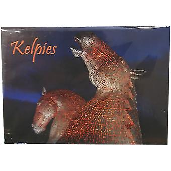 Kelpies at Night Magnet by Lyrical Scotland