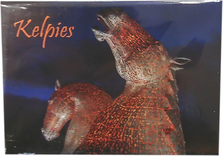 Kelpies at Night Magnet by Lyrical Scotland
