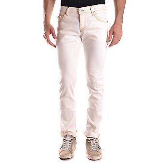 Maison Clochard Ezbc345002 Men's White Denim Jeans
