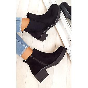 IKRUSH Womens Amra Chunky Ankle Boots