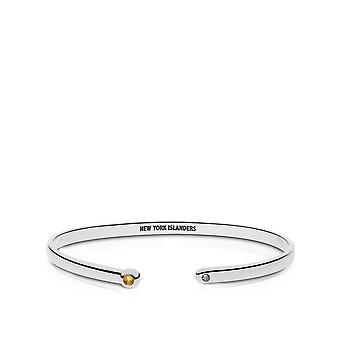 New York Islanders Engraved Sterling Silver Citrine Cuff Bracelet