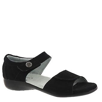 David Tate Womens Super Leather Open Toe Casual Ankle Strap Sandals