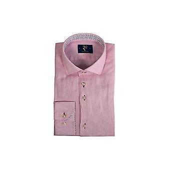 R2 Long Sleeve Linen Shirt Pale Pink