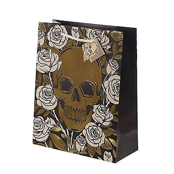 Attitude Clothing Large Metallic Skulls & Roses Gift Bag