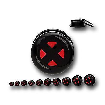 X-Men símbolo acrílico parafuso Fit plugs