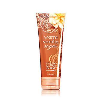Bath & Body Works Warm Vanilla Sugar Ultra Shea 24 Hr Moisture Body Cream 8 oz / 226 ml (2 Pack)
