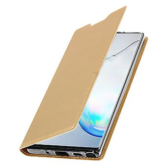 Slim flip wallet case, Business series for Samsung Galaxy Note 10 Plus – Gold
