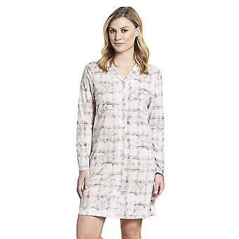 Rosch 1193532-16413 Donne's Smart Casual Rosa Paisley Check Cotton Nightdress