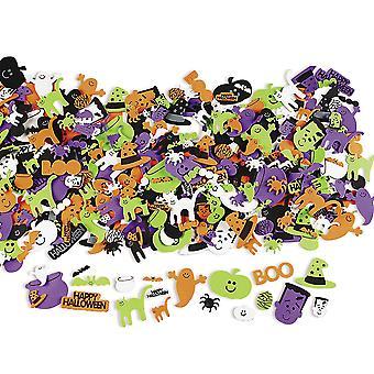 500 Счастливый Хэллоуин, самоклеющиеся Пена фигур для детей ремесло