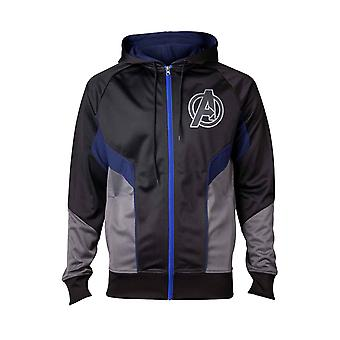 Avengers Hoodie Ologramma Logo nuovo Ufficiale Marvel Infinity War Mens