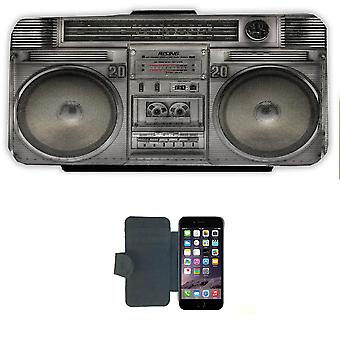 IPhone 6 wallet case cover picture wallet Shell 80 ' s Boom Box