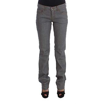 Gray Cotton Regular Fit Denim Jeans -- SIG3450309