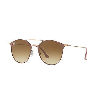 Ray-Ban RB3546 9071/51 koppar topp på beige/klar gradient bruna solglasögon