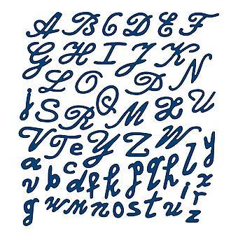 Alphabet fleuri: dentelle lambeaux métal Die papier carte coupe stephanie haletante