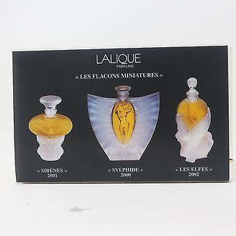 Les Flacons Miniatures by Lalique Parfum 3-Pcs Set 3 X 0.15oz Splash Vinatage