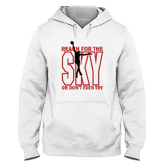 White man hoodie wtc1027 basketballreach for the sky