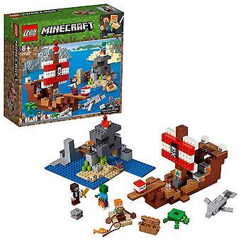 ليغو 21152 ماين كرافت القراصنة سفينة مغامره بناء كيت الملونة لعبه
