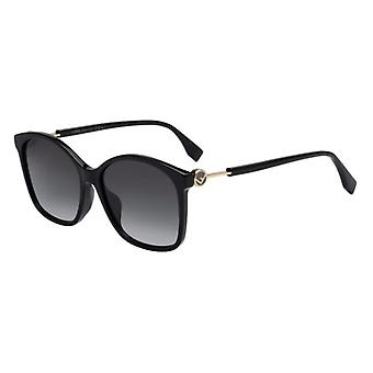 Fendi FF0361/F/S 807/9O Preto/Cinza Escuro Gradient Óculos de sol