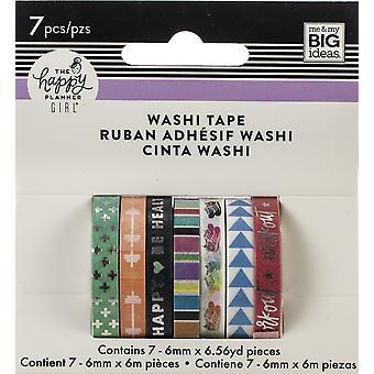 Happy Planner Skinny Washi Tape 7/Pkg-Healthy Hero
