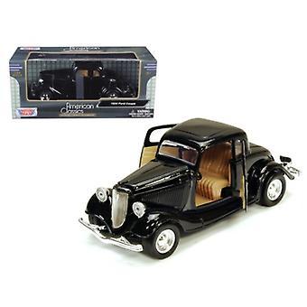 1934 Ford Coupe Black 1/24 Diecast Modellauto von Motormax