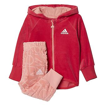 Adidas Girls Velour Full Zip Hood Jogger
