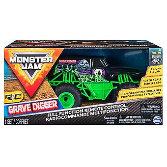 Monster Jam Remote Control Truck 1:24 Scale - Grave Digger