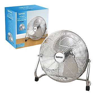 Benross 14 Inch High Velocity Chrome Fan 70W