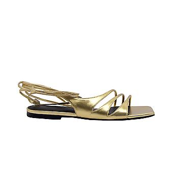 Sigerson Morrison Faunegold Women's Gold Leather Sandals
