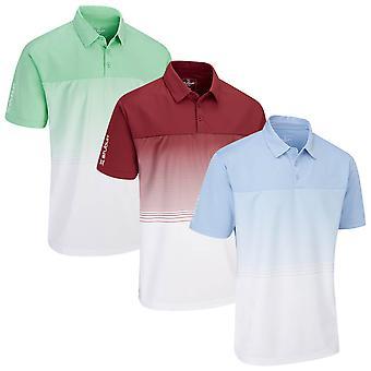 Stuburt Golf Mens Evolve Dalton Breathable Wicking Stripe Golf Polo Shirt