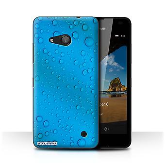 STUFF4 Case/Cover for Microsoft Lumia 550/Blue/Water Droplets