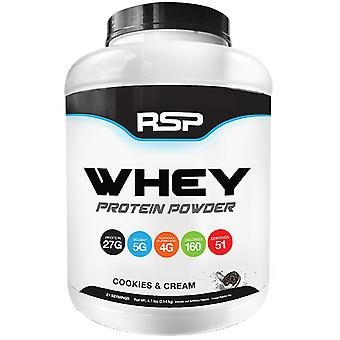 Rsp whey protein, build lean muscle, bcaas, amino acids, glutamine (cookies & cream, 5lb)