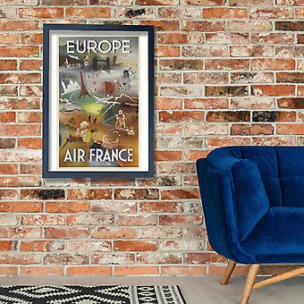 Air France Europe Poster Print Giclee