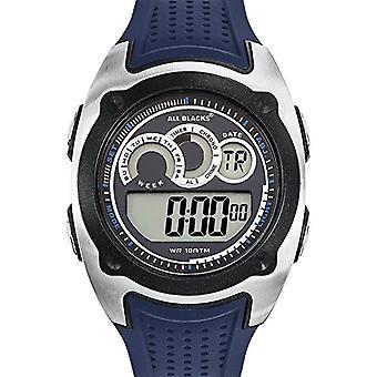 Todos los negros 680282 de analógico a digital reloj Unisex