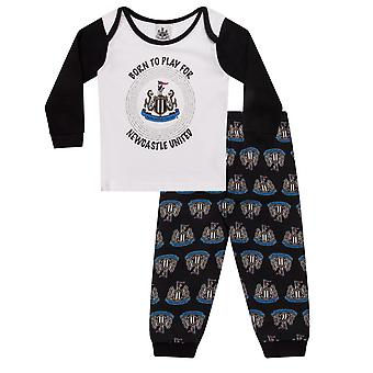 Newcastle United Baby Pyjamas Long Boys Kids Official Football Gift