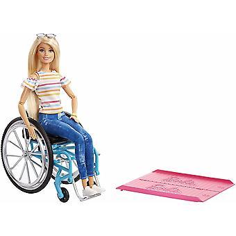 Barbie Fashionistas Doll #132 baba tolószék