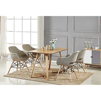 Olivia Fabric Dallas Dining Set