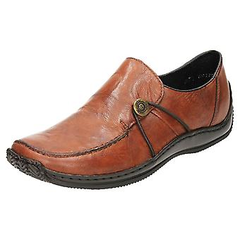 Rieker Slip On Flat Mocasin Zapatos de Cuero L1781-22