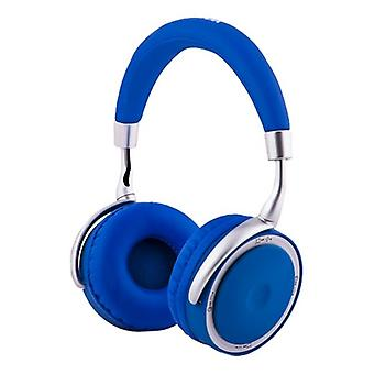 Foldable Headphones with Bluetooth CoolBox COO-AUB-12BL 300 mAh Blue
