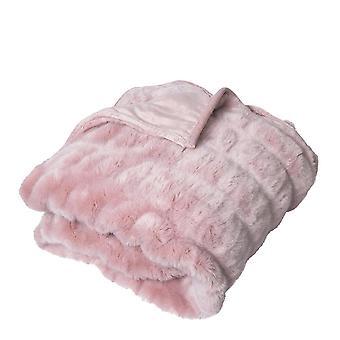 Quebec Throw Rug 125x150cm Rose Pink
