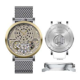 Carlo Cantinaro CC1004GM017 Men's Watch Quartzmatic GMT