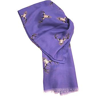 Blue Stag Scarf by Butterfly Fashion London