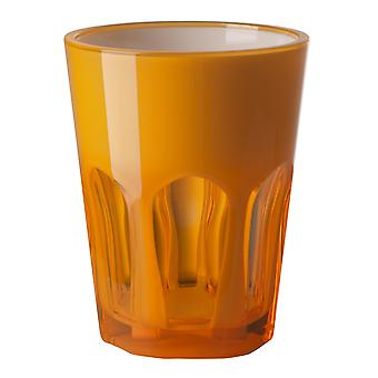 Mario Luca Giusti Set of 6 Double Face Plastic Cups Orange