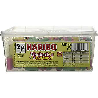 Haribo Rhubarb & Custard (300) Pieces 810g