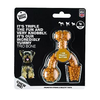 TastyBone Peanut Butter Flavoured Trio Dog Chew Toy