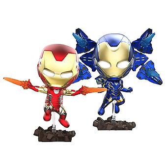 Avengers 4 Iron Man Mark LXXXV & Rescue Light Up Cosbaby Set