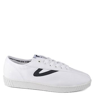 Tretorn Men's Nylite White And Navy Canvas Trainer
