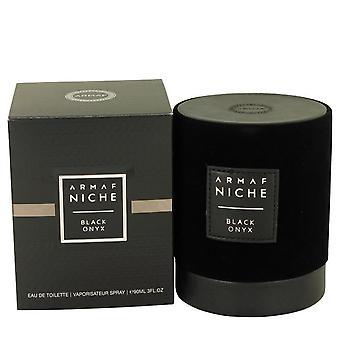 Armaf Niche Black Onyx Eau De Toilette Spray (للجنسين) بواسطة Armaf 3 oz Eau De Toilette Spray