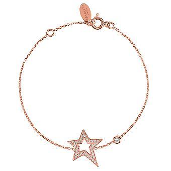 Latelita 925 Sterling Silver Delicate Star Bracelet Rosegold Gold CZ Sparkly