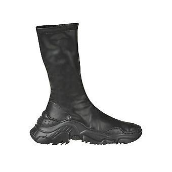 N°21 Ezgl068199 Dames's Black Leather Enkellaarsjes