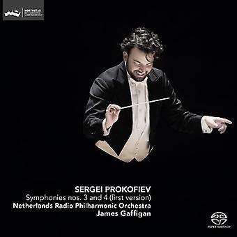 Prokofiev / Netherlands Rpo / Gaffigan - Symphonies 3 & 4 (First Version) [SACD] USA import